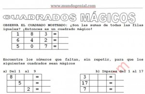 cuadros magicos