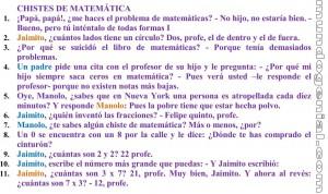 chistes de matemática