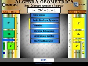 ALGEBRA GEOMÉTRICA - FACTORIZACIONES