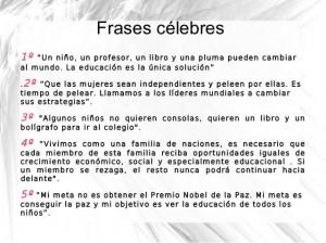 FRESES CÉLEBRES