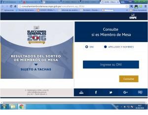 OFICINA NACIONAL DE PROCESOS ELECTORALES - ONPE