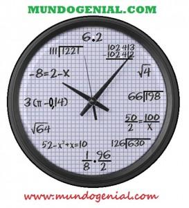 reloj matemático de mundo genial 4