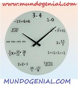 reloj matemático de mundo genial 5