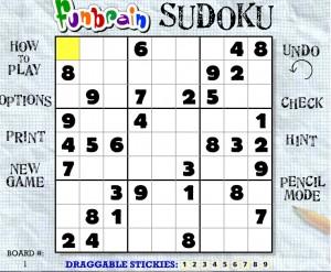 sudoku divertido en matemática