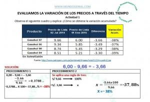 REGLA DE TRES - VARIACIÓN DE PRECIOS