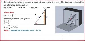 en el siguiente grafico el valor de la razón trigonométrica