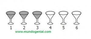 la siguiente figura representa 6 copas...