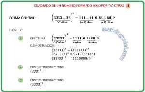 CUADRADO DE UN NÚMERO FORMADO SOLO POR n CIFRAS 3