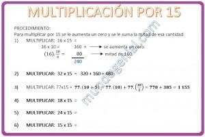 MULTIPLICACIÓN POR 15