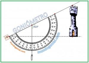 calculando alturas - goniómetro
