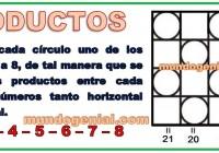 PRODUCTOS - JUGANDO CON NÚMEROS