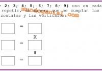 Colocar 1-2-3-4-5-6-7-8-9 uno en cada casillero