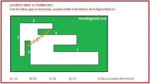 Cuánto mide el perímetro de la siguiente figura