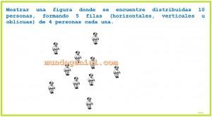 Mostrar una figura donde se encuentre distribuidas 10 personas,...