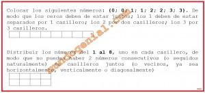 colocar los siguientes números 0-0-1-1-2-2-3-3