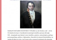 MARIANO EDUARDO DE RIVERO Y USTARIZ