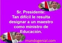 ministro de Educación