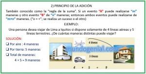 PRINCIPIO DE LA ADICIÓN