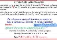 PRINCIPIO DE LA MULTIPLICACIÓN