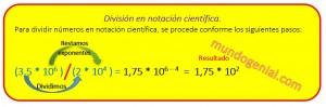 división en notación científica