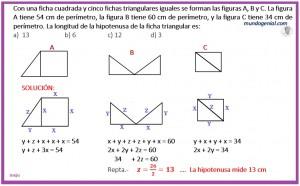 Con una ficha cuadrada y cinco fichas triangulares iguales sse forman las figuras...