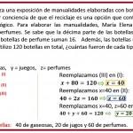 María Elena organiza una exposición de manualidades....