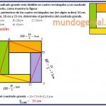 Un cuadrado grande está dividido en cuatro .....