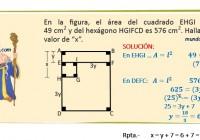 en la figura, el área del cuadrado EHGI es 49 ....
