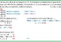 la suma de las tres cifras de un número es 15......
