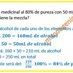 se mezcla 200 mL de alcohol medicinal al ...