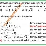 Cuál de los siguientes intervalos cerrados contiene la mayor .............