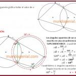 En la circunferencias secantes se encuentra un cuadrilátero....