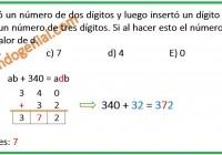 María Elena escribió un número de dos dígitos y luego insertó ....