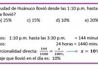 cierto día en la ciudad de Huánuco llovió des las ......