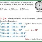 A qué hora entre las 2 y 2-30 se cumple que el ángulo....