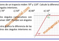 Dos ángulos interiores de un trapecio mide 70 y 120 grados.........