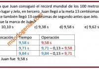 En la carrera en la que Juan consiguió el record mundial de los 100 planos,......