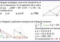 Sea ABC un triángulo rectángulo, recto en B, donde M ......