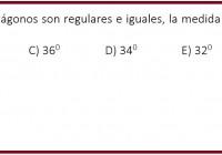 En la figura, los tres pentágonos son regulares e iguales, la medida del ángulo B es....