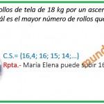 María Elena tiene que subir rollos de tela de 18 kg por un ascensor....