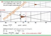 el rectángulo ABCD se ha formado con 5 cuadrados.....