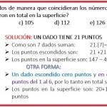 Juan Ramos pegó 7 dados de manera que coincidieran los números...