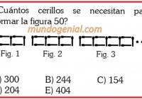 Cuántaos cerillos se necesitan para formar la figura 50