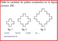 HALLAR LA CANTIDAD DE PALITOS EN LA FIGURA 100