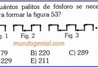 cuántos palitos de fósforo se ncesita para formar la figura 53