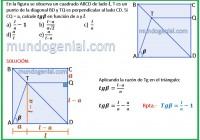 En la figura se observa un cuadrado ABCD de lado l, T ..........