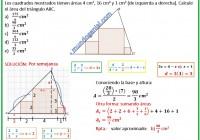 Los cuadrados mostrados tiene áreas de 4 - 16 y 1 centímetros cuadrados.....