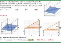 Se tiene un cubo ABCD-EFGH, como se muestra en la figura.........