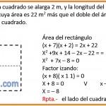 Si la longitud del lado de un cuadrado se alarga 2m ..........