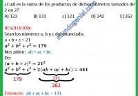 la suma de tres números es 21 y la suma de sus cuadrados es 179...